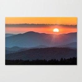 Smoky Mountain National Park Sunset - 19/365 Canvas Print