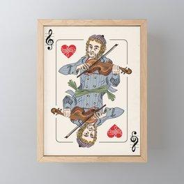 Fiddler poker Framed Mini Art Print