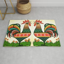 Rise And Shine Rooster Rug