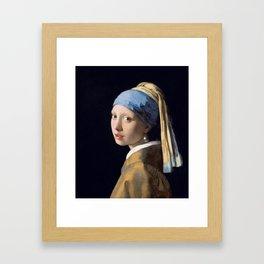 "Johannes Vermeer ""Girl with a Pearl Earring"" Framed Art Print"