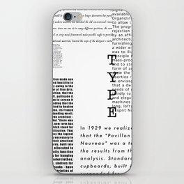 Type - Le Corbusier, Pavilion L'Esprit Nouveau iPhone Skin