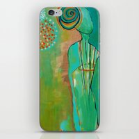 """flora bowley iPhone & iPod Skins featuring """"Wish Believe"""" Original Painting by Flora Bowley by Flora Bowley"""