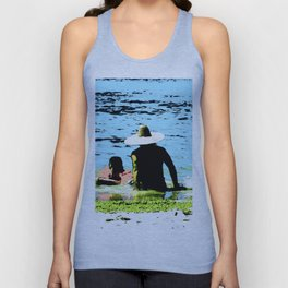Day at the beach with Dad Unisex Tank Top