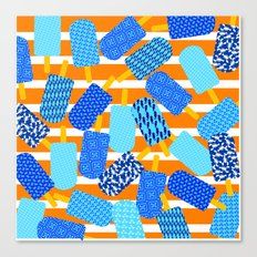 Santorini Popsicles Canvas Print