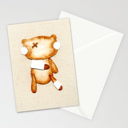 Poorly Sick - Get Well Soon Zombie Bear Stationery Cards