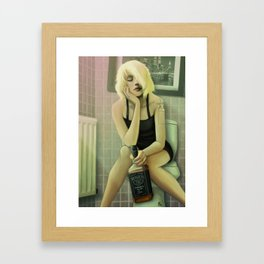 Whiskey in the Bathroom Framed Art Print