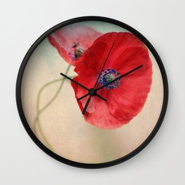 Poppies vintage(5) Wall Clock