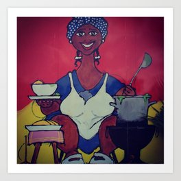 The cooking lady Art Print
