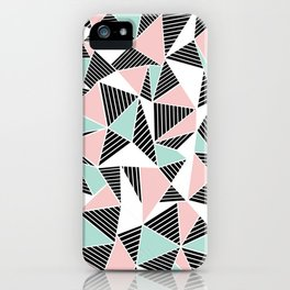 AbLines with Blush Mint Blocks iPhone Case