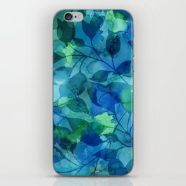 Alcohol Ink Leaves iPhone Skin