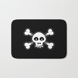 Skull & Bones Tattoo Bath Mat