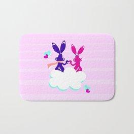 Love is.. / Couple of bunnies in love Bath Mat