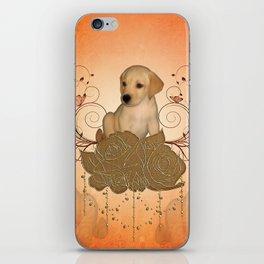 Cute little puppy iPhone Skin
