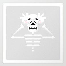 Skeleton / Pale Man Art Print