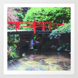 Red Bridge 2 Art Print
