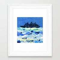 ships Framed Art Prints featuring Ships by Victoria Antolini
