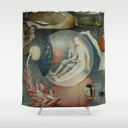 THE GARDEN OF EARTHLY DELIGHTS (detail) - HIERONYMUS BOSCH Shower Curtain