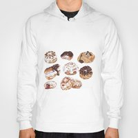 donuts Hoodies featuring Donuts by heatherinasuitcase