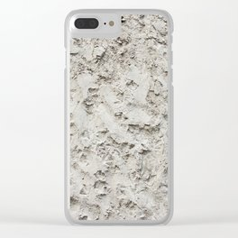 Cement Wall pattern Clear iPhone Case