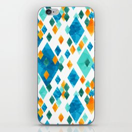 Topsy Turvy Turquoise iPhone Skin