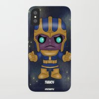 thanos iPhone & iPod Cases featuring Thanos Pop! by SpaceWaffle