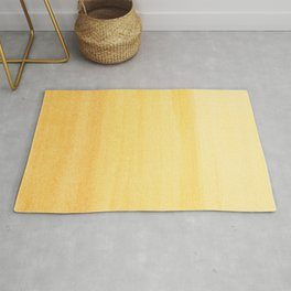 Yellow Watercolor Ombre Pattern Rug