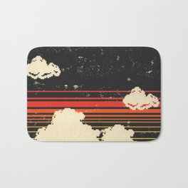 Clouds in the Sky at Night Bath Mat