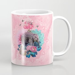 FLORAL ELEPHANT Coffee Mug