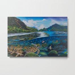 Tropical seascape and wildlife Metal Print