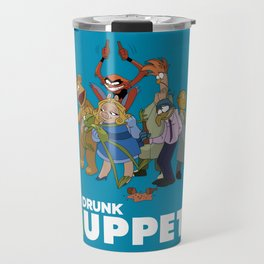Drunk Muppets Cartoon Parody Travel Mug