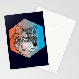 WOLF BLACK Stationery Cards