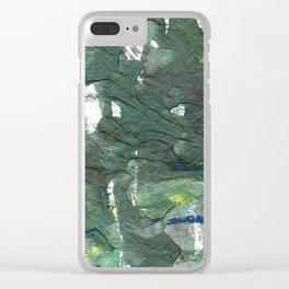 Feldgrau abstract watercolor Clear iPhone Case