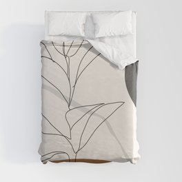 Abstract Art /Minimal Plant Duvet Cover