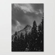 North Cascade Winter Blizzard Canvas Print