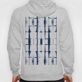 Shibori Stripes 4 Indigo Blue Hoody