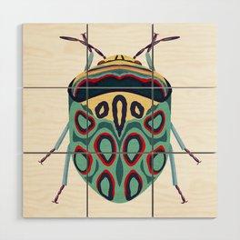 Blue Beetle Wood Wall Art