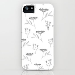 Minimal flowers iPhone Case