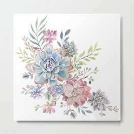 succulent watercolor 6 Metal Print