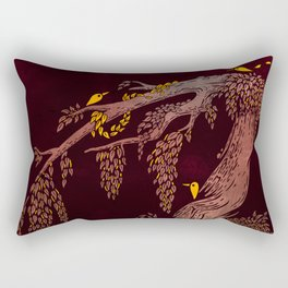 Tree Birds Rectangular Pillow