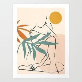 Minimal Line in Nature II Art Print