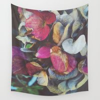 hydrangea Wall Tapestries featuring Fall Hydrangea by DuckyB