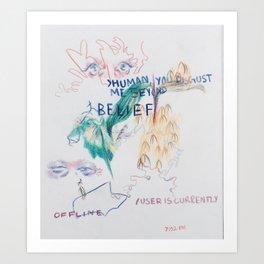 Abstract Colored Pencil Infodump #1 Art Print