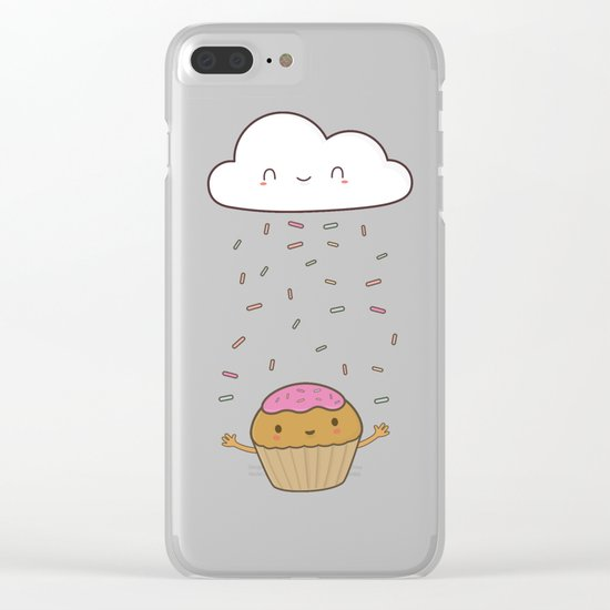 Kawaii Cute Cupcake Sprinkles Clear iPhone Case
