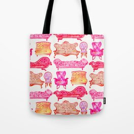 Victorian Lounge – Pink Palette Tote Bag