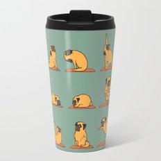Pug Yoga Travel Mug