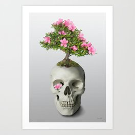 Bonsai Skull Art Print
