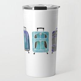 Let's Go Somewhere - Blue Travel Mug