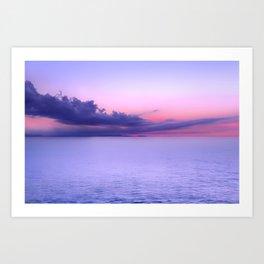 Sunset Indigo Mood Art Print