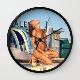 Airplane IV Wall Clock