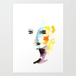 WATERCOLOR FACE Art Print
